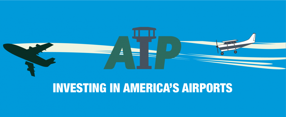 """AIP Web Banner """"Investing in America's Airports"""""""