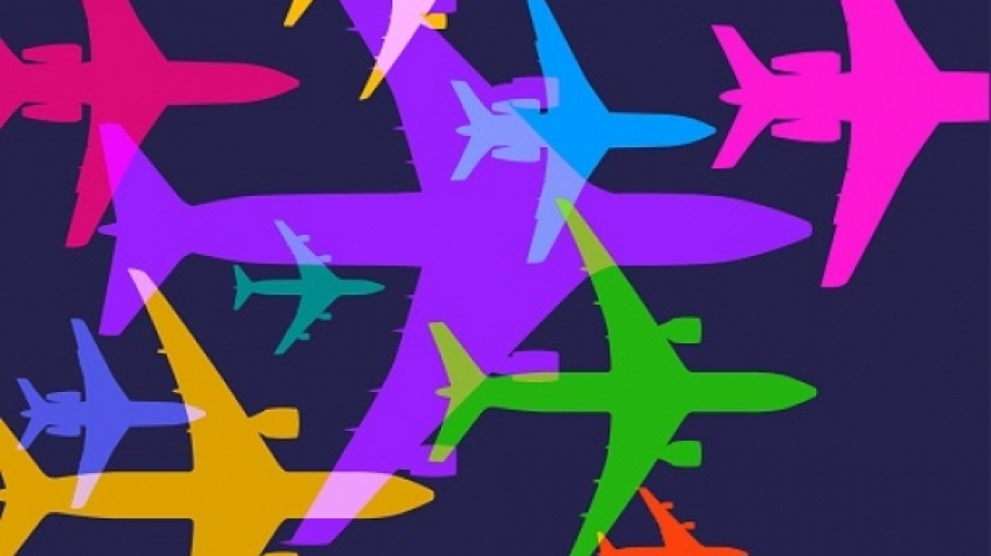 colored airplanes