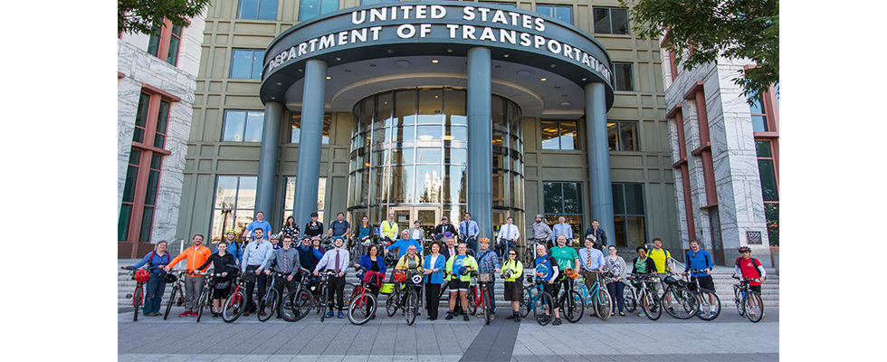 Secretary Chao celebrates National Bike to Work Week with DOT bicycle commuters