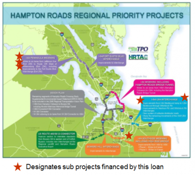 Map of Hampton Roads projects