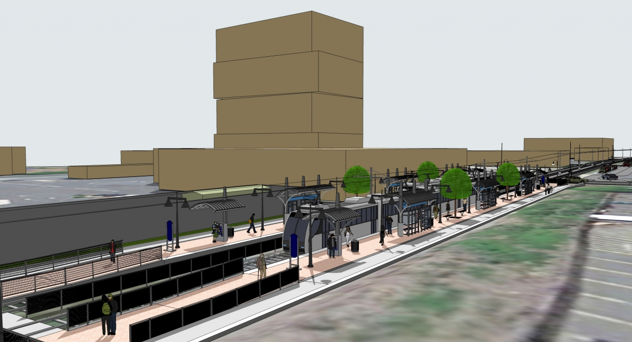 Rendering of the Ninth Street Station