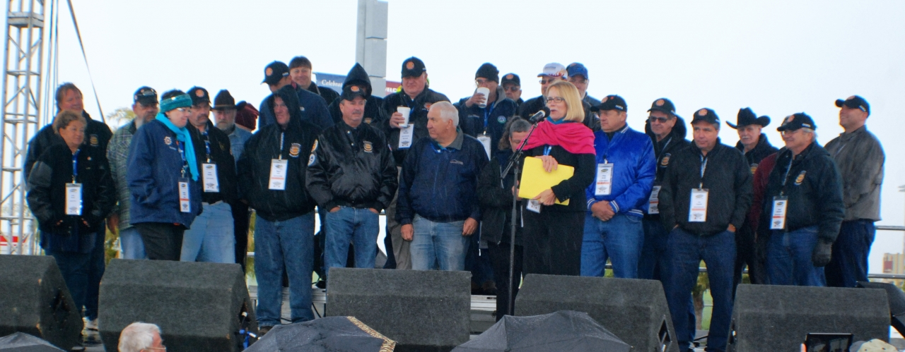 Anne Ferro at Heart of America Trucking Show Safe Driver Awards; photo courtesy Land Line Magazine staff photographers.