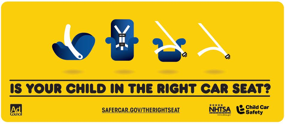 Is your child in the right car seat graphic