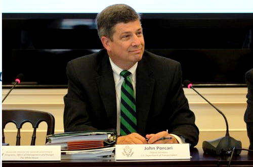 Photo of Deputy Transportation Secretary John Porcari seated