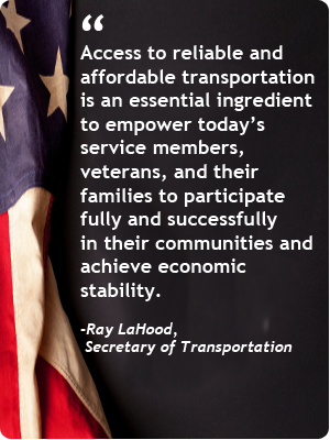 Quote from Secretary Lahood on importance of transportation for veterans