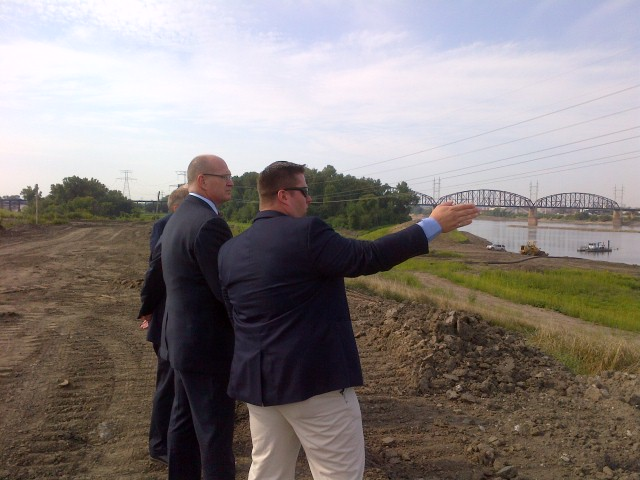 Photo of Chip Jaenichen touring America's Central Port