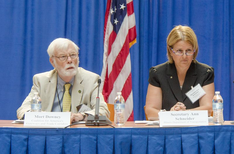 Photo of NFAC Vice Chair Mort Downey and Chair Ann Schneider