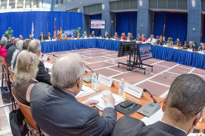 Wide shot photo of the first NFAC meeting