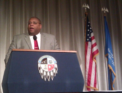 Photo of NHTSA Administrator Strickland at Tribal Transportation event