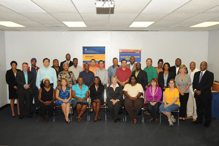 BEP participants with Mayor Parker at the conclusion of the closing workshop in Houston.