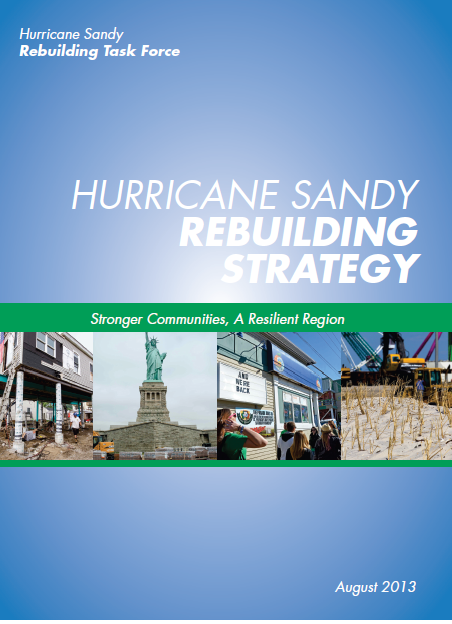 Cover for the Hurrican Sandy Rebuilding Strategy pamphlet