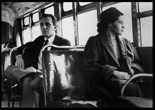 Rosa Parks on a transit bus