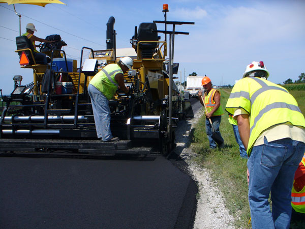Photo of road work