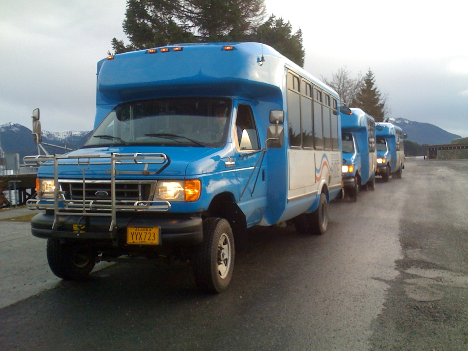 Photo of Sitka Tribe transit vehicles