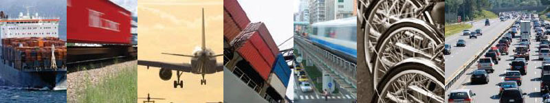 Photo montage of transportation modes