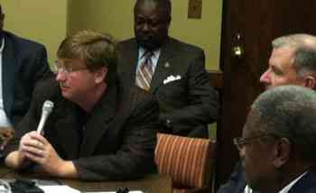 Lt. Governor Tate Reeves offers opening remarks.