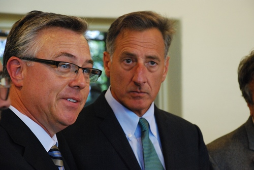 Photo of FRA Administrator Szabo with Vermont Governor Shumlin