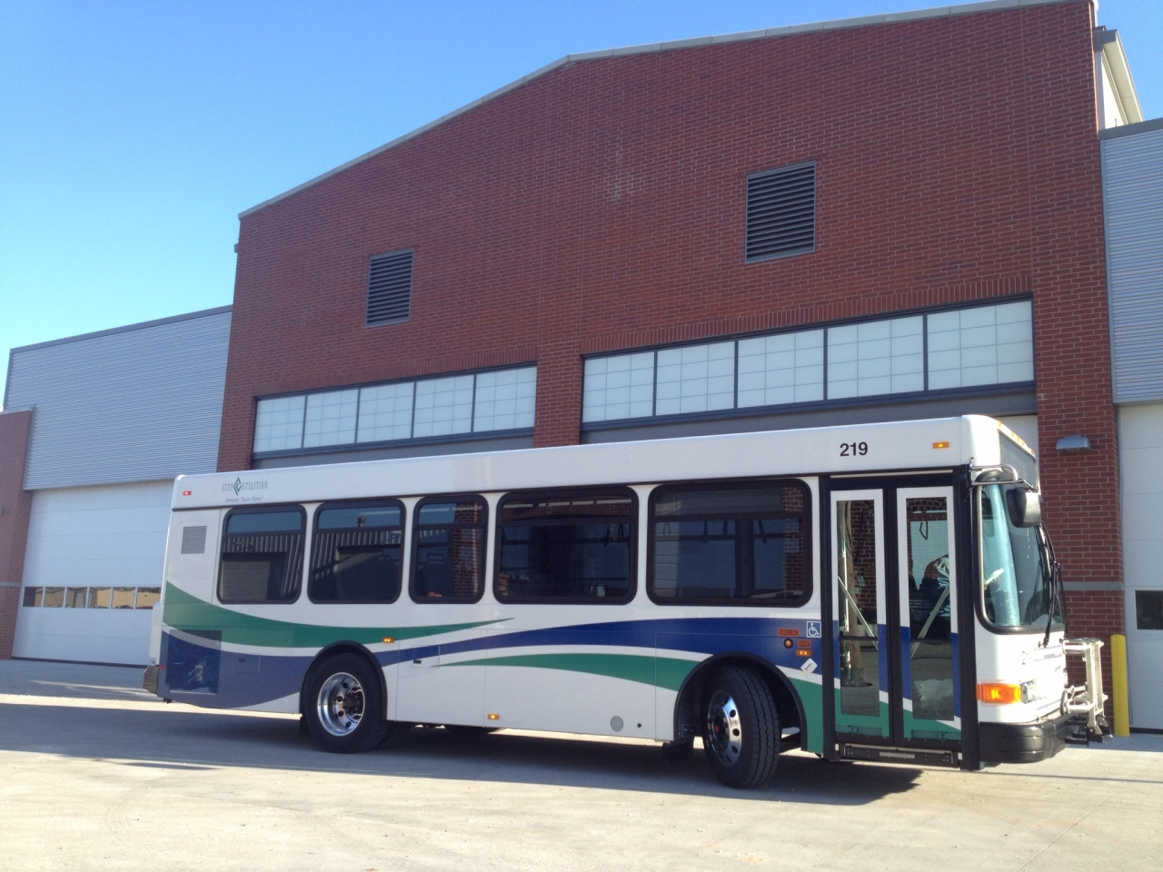 Renovated building housing buses to reduce wear and tear