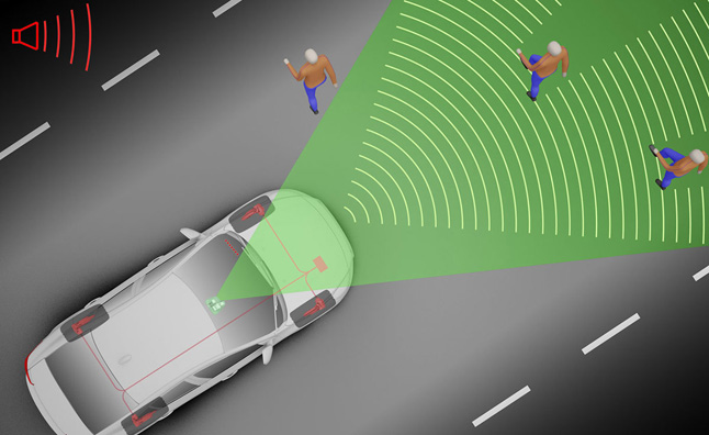 Graphic of crash avoidance technology
