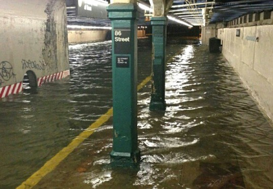 Photo of submerged 86th Street subway station