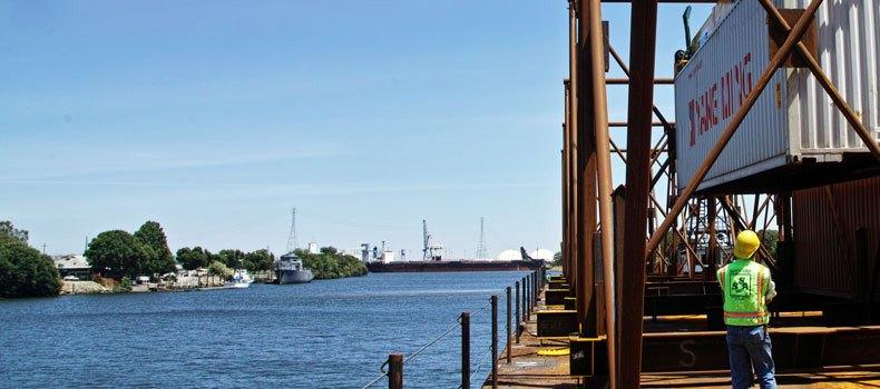 Photo of marine corridor with port