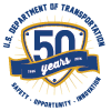 dot 50th logo