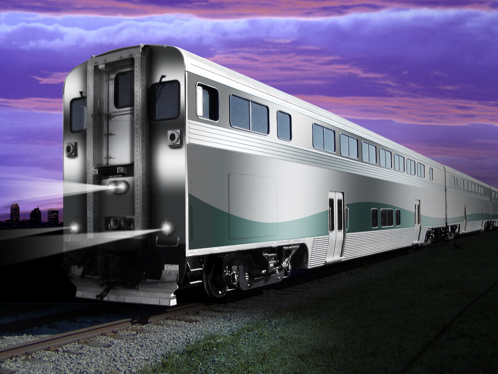 Rendering of the new bi-level cab car