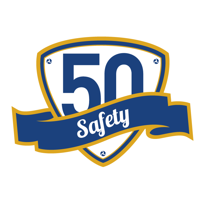50th anniversary safety logo
