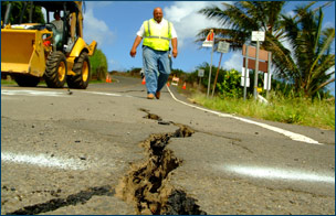 Disaster Recovery Crack in Road