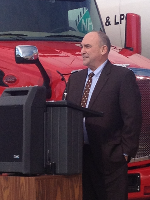 FHWA Administrator Gregory Nadeau announcing TIGER truck parking grant