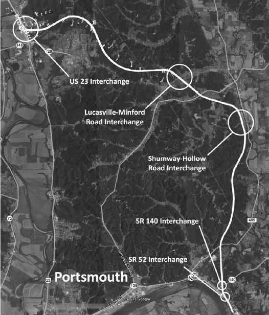 Portsmouth Bypass Map