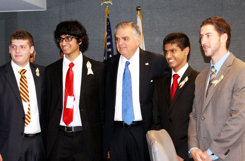 Photo of Secretary LaHood with 2012 RAISE Award winners