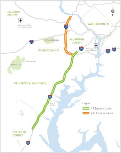 I HOV Hot Lanes US Department Of Transportation - Us map i 95