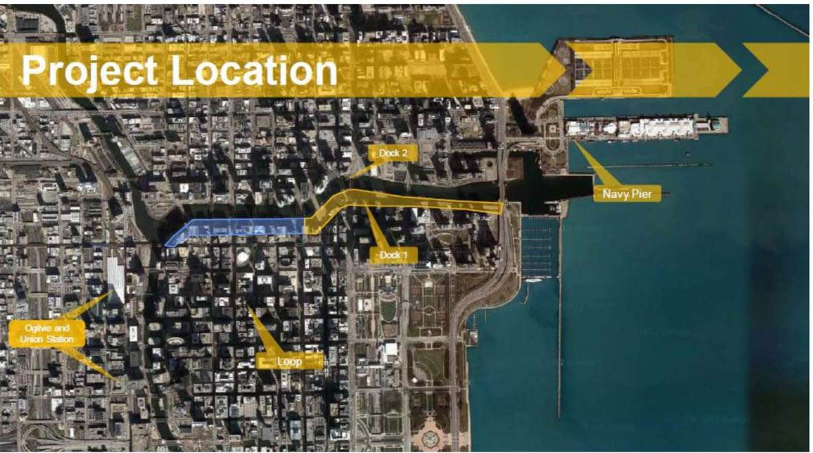 Riverwalk Chicago Map.Riverwalk Expansion Us Department Of Transportation