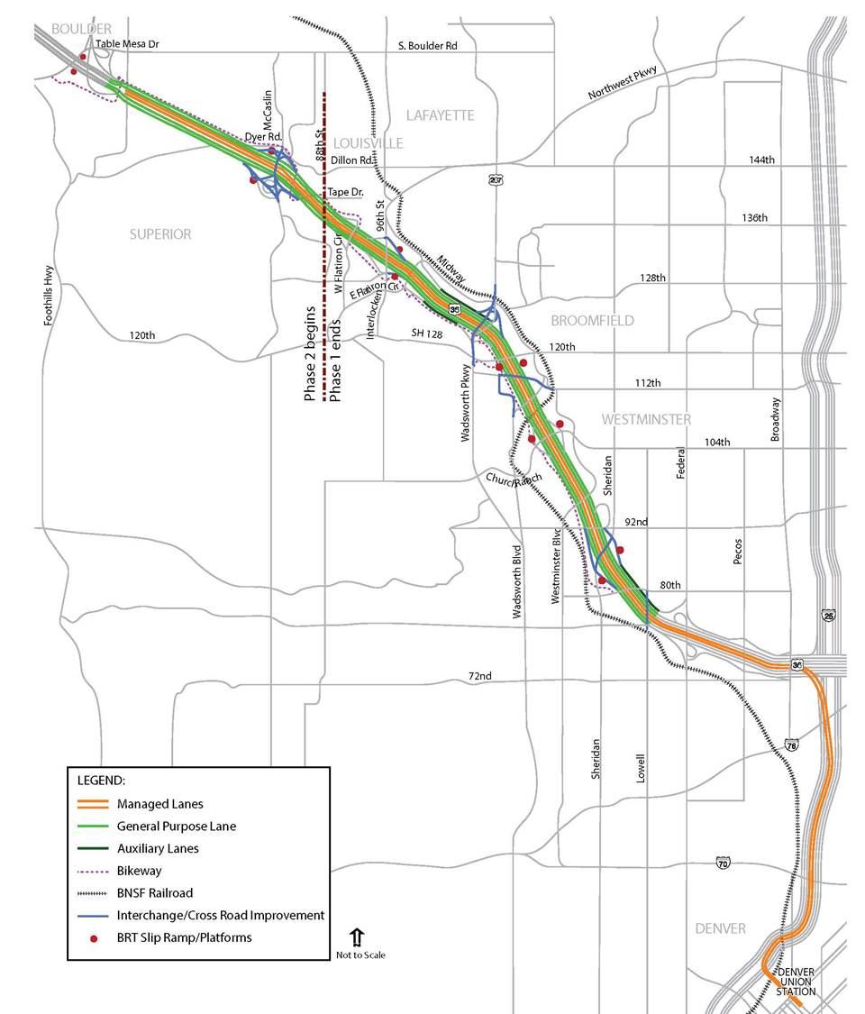 u s 36 managed lane bus rapid transit project phase 2
