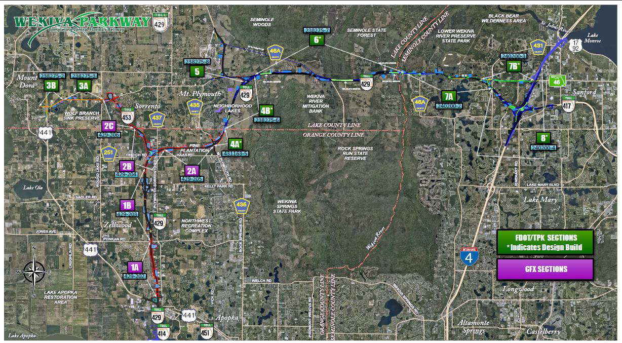 Wekiva Parkway Project Map