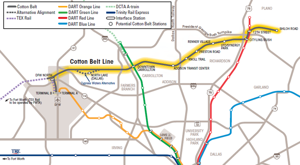Cotton Belt Corridor Regional Rail Project