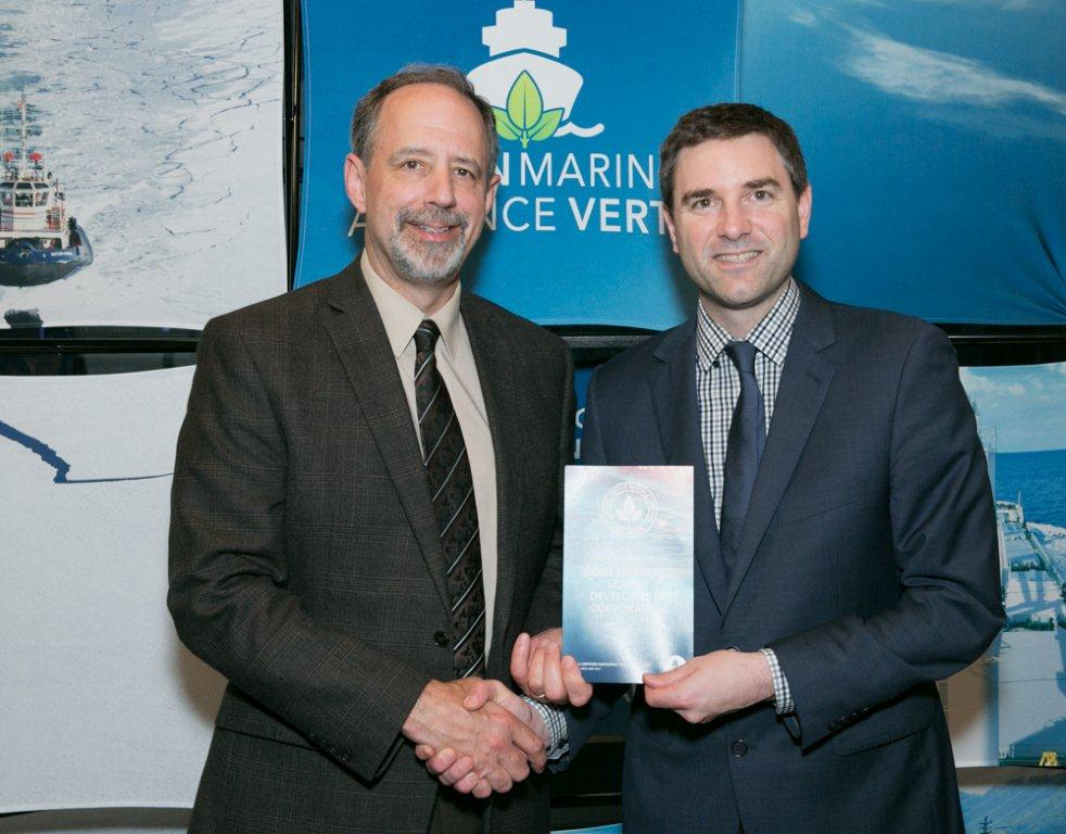 Saint Lawrence Seaway Development Corporation award giving image