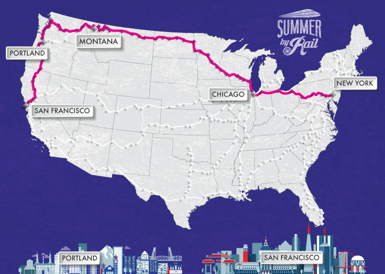 US map summer by rail image