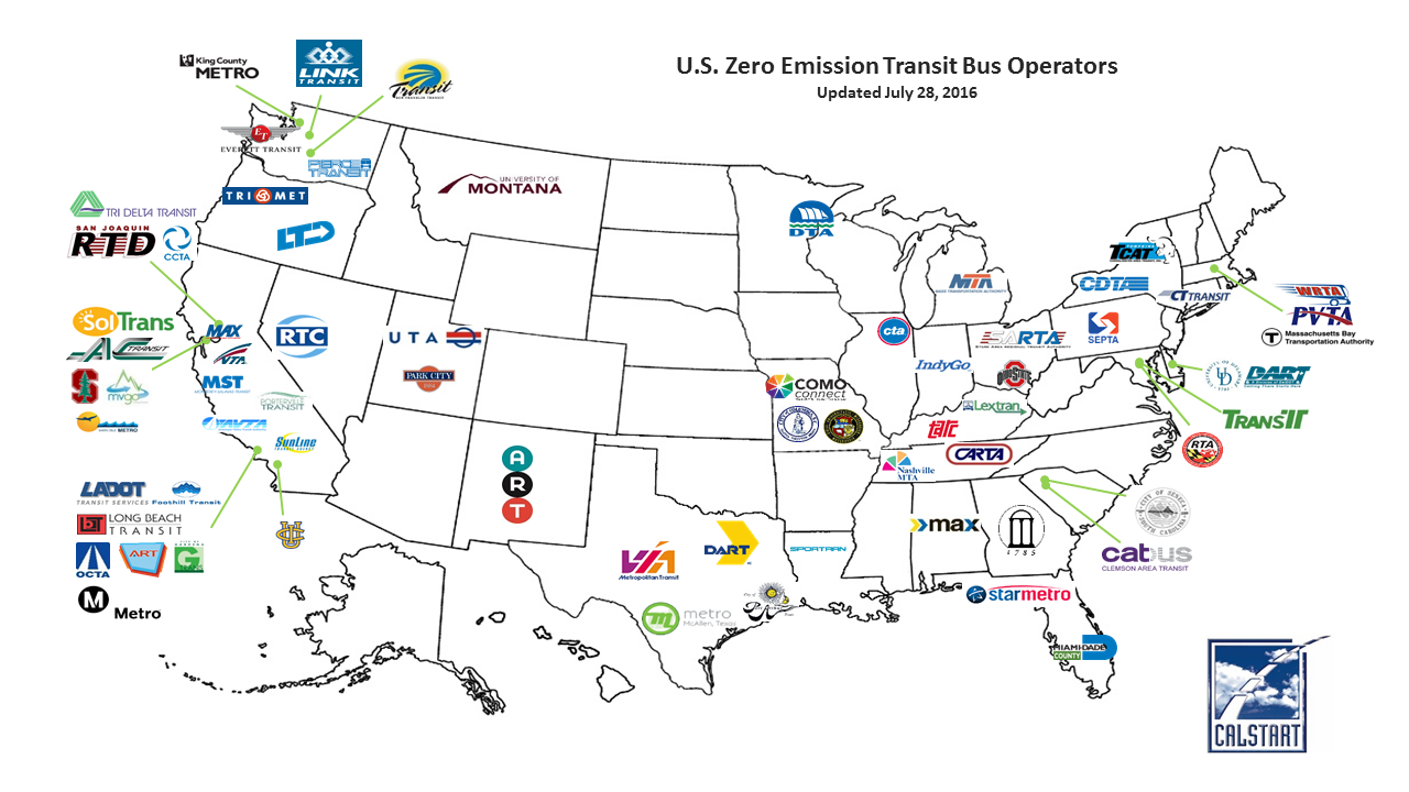 Zero Emissions Bus Operators US Department Of Transportation - Washington dc transit map pdf
