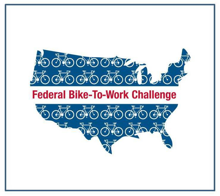 US Map of Federal Bike-To-Work Challenge Image