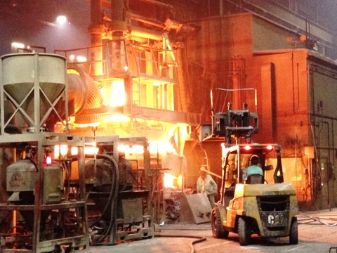 Photo of a furnace at Columbus Castings