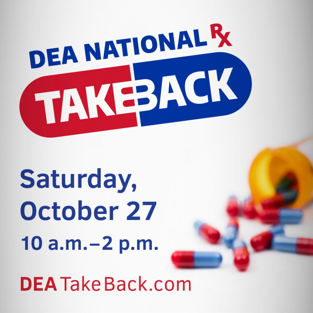 DEA National Take Back Saturday October 27, 2018, DEA TakeBack.com