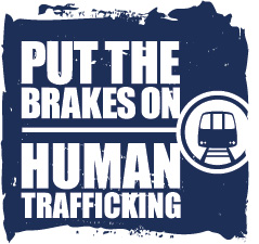 Transportation Leaders Against Human Trafficking Vertical Train Logo