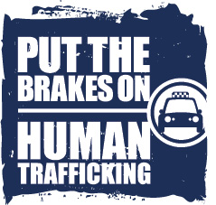 Transportation Leaders Against Human Trafficking Vertical Taxi Logo