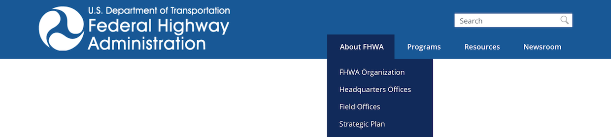 Example of the FHWA header (OA, expanded)
