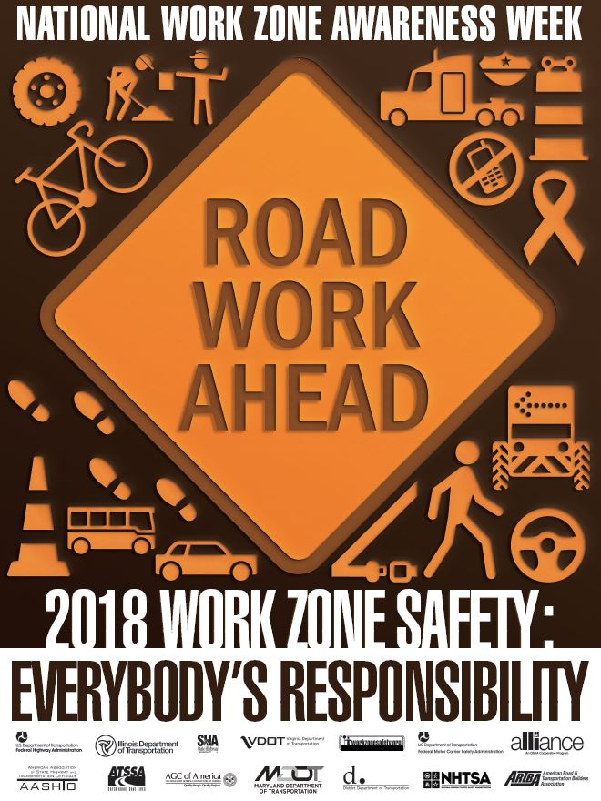 National Work Zone Awareness Poster 2018 Everybody's Responsibility