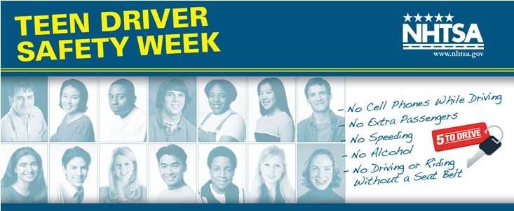Teen Driver Safety Week web banner