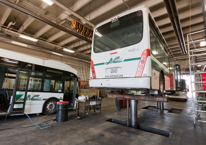 AC Transit bus maintenance facility in Emeryville
