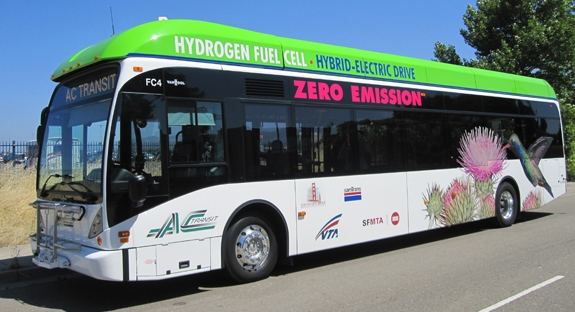 AC Transit hydrogen fuel-cell bus